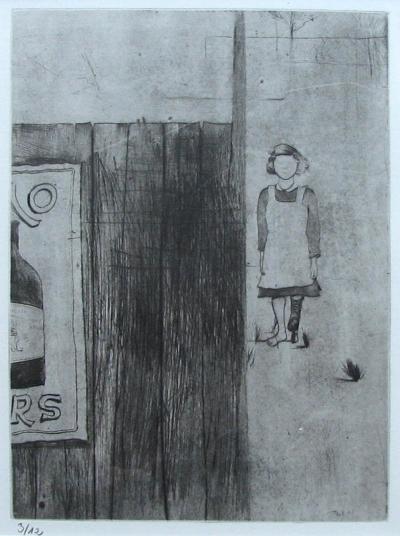 Lhoták Kamil (1912 - 1990) : Dívka u ohrady