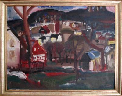 Jíra Josef (1929 - 2005) : Předjarní krajina na Malé Skále