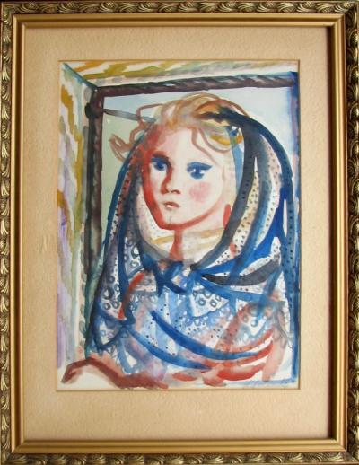 Svolinský Karel (1896 - 1986) : Dívka v šátku