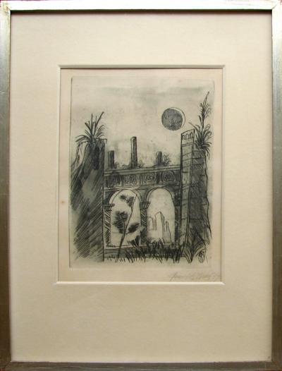 "Tichý František (1896 - 1961) : Ilustrace k Lermontovově básni ""Démon"""