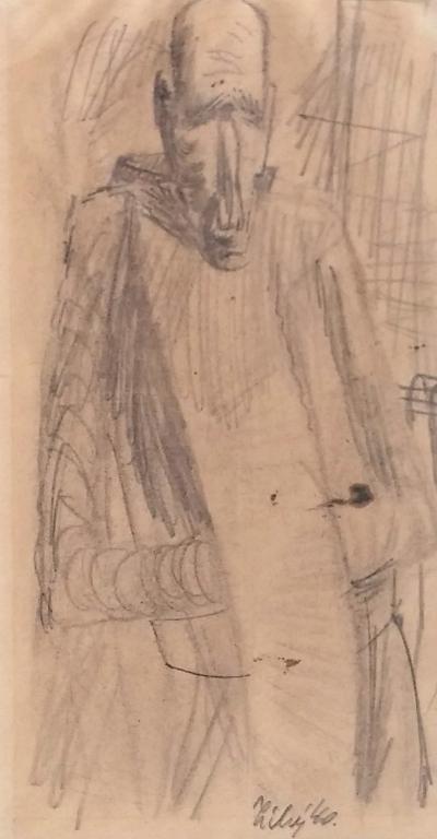 Tichý František (1896 - 1961) : Muž s kapucí (Don Quijote?)