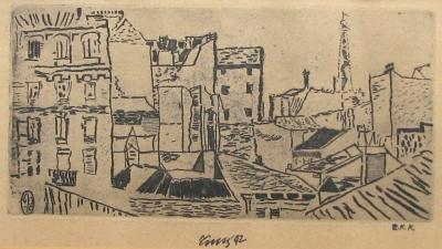 Tichý František (1896 - 1961) : Pařížské střechy