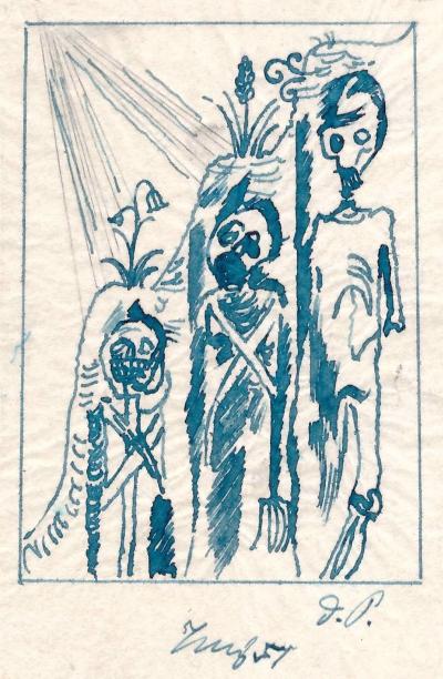 Tichý František (1896 - 1961) : Tři kostlivci