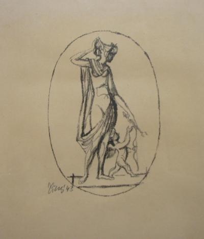 Tichý František (1896 - 1961) : Venuše s amorem
