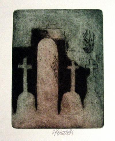 Komárek Vladimír (1928 - 2004) : Vesnický hřbitov