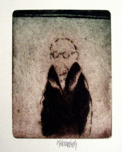 Komárek Vladimír (1928 - 2004) : Muž s brýlemi