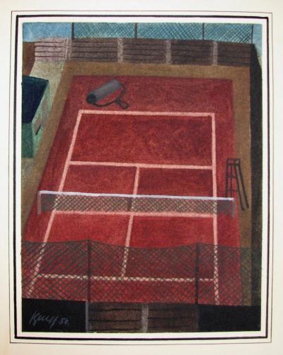 Beneš Vlastimil (1919 - 1981) : Tenisový kurt