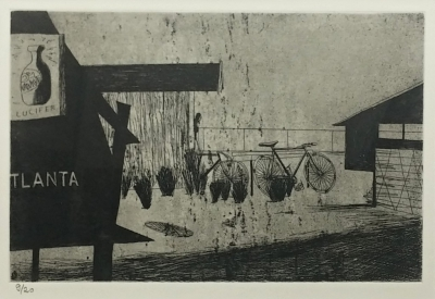 Lhoták Kamil (1912 - 1990) : Na cyklistické dráze (Atlanta)