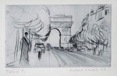 Lhoták Kamil (1912 - 1990) : Paříž 1947