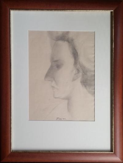 Tichý František (1896 - 1961) : Portrét (pravděpodobně Marie Kurialové)