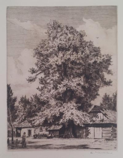 Naumann Arno (1887 - 1959) : Statek pod lipou