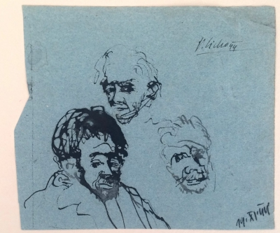 Sivko Václav (1923 - 1974) : Studie portrétu J. Sudka